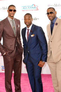 Chris Bosh, Dwayne Wade & Lebron James ~ NBA style