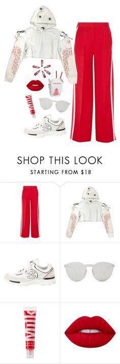 """""""not your baby"""" by chanelandcoke ❤ liked on Polyvore featuring Fendi, Chanel, Illesteva, MILK MAKEUP and Lime Crime"""