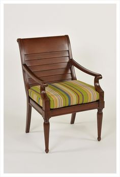 Mahogany Dining Chair with slat back. Wharton Hunt can build this for you.  Learn more about how Wharton Hunt does this at http://www.whartonhunt.com/portfolio/custom-hospitality-seating/