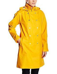 66 North Iceland Damen Regenmantel Laugavegur Rain Coat, Retro Yellow, XS, C11722-665