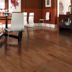 Shop allen + roth 2.25-in W Prefinished Oak Hardwood Flooring (Gunstock Oak) at Lowes.com