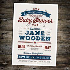vintage baseball baby shower invitation you print boy