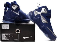 separation shoes 157df 0347f Lebron 13 Womens Navy Blue Silver1 Nike Lebron, Shoes 2017, Navy Women, Air