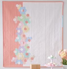 After April Showers Quilt by Catherine Redford - a modern take on EPP hexies