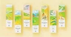 Premium organic green tea 'Water color package' SAUDADE TEA