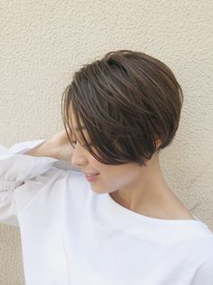 Short Hair Dos, Chic Short Hair, Asian Short Hair, Asian Hair, Short Hair Styles, Short Bob Haircuts, Boy Hairstyles, Hair Goals, Blonde Hair