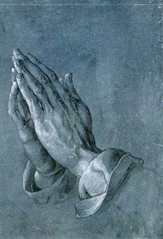 デューラー 「 祈りの手 」 1508 | Brush drawing on blue primed paper, 29 x 19.7 cm | アルベルティーナ美術館、ウィーン、オーストリア