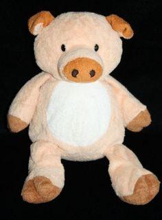 "Ty Pluffies Corkscrew Pig soft peach plush stuffed animal 2002 baby piggy 10"""