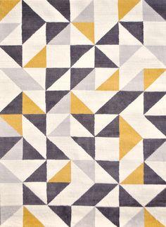 ラグマット(幾何学柄・アイボリー系マルチカラー/M):北欧,ミッドセンチュリー,ベージュ・アイボリー系,Home's Style(ホームズスタイル)のラグ・マットの画像