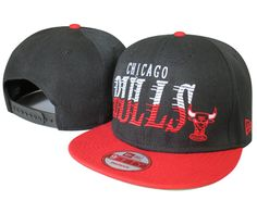 NBA Chicago Bulls Snapback Hats Caps Black New Era 2192|only US$8.90