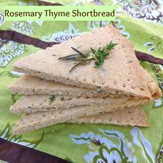 Rosemary Thyme Shortbread | Teaspoonofspice.com - a unique cookie for ...