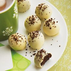 These Mocha Truffles are sprinkled with coffee crystals!