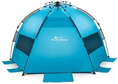 Pacific Breeze Easy Setup Beach Tent in Sporting Goods, Outdoor Sports, Camping & Hiking, Tents & Canopies, Tents Pop Up Camping Tent, Pop Up Tent, Beach Tent, Beach Umbrella, Tent Reviews, Camping Mattress, Solar Water Heater, Portable Toilet, Canopy Outdoor