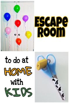 Escape rooms are very popular right now! You can do this escape room in your own home with materials you probably already have. This room challenges children to problem solve, think outside the box and experience something new. Check it out for ideas t Escape Room Diy, Escape Room For Kids, Escape Room Puzzles, Kids Room, Projects For Kids, Crafts For Kids, Escape Room Challenge, For Elise, Summer Kids