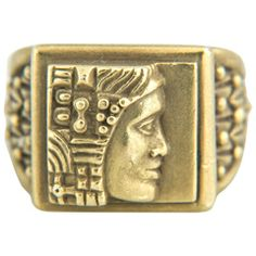 "Barry Kieselstein-Cord ""Woman of the World"" Gold Signet Type Ring"
