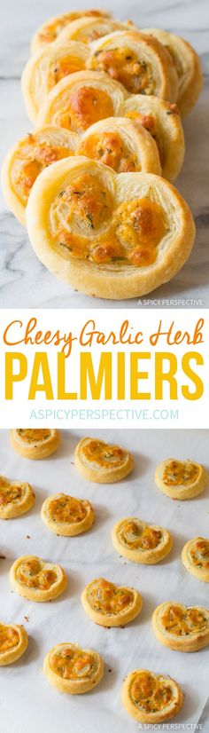 Perfect 6-Ingredient Cheesy Garlic Herb Palmiers #holidays #appetizer #party
