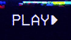 Macro shot of the PLAY text message on a badly damaged VHS tape playing in a VCR. Neon Aesthetic, Aesthetic Images, Aesthetic Wallpapers, Glitch Tv, Gamer Quotes, Tomura Shigaraki, Macro Shots, We Movie, Branding