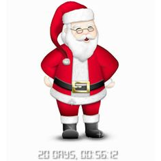 Santa Countdown - Countdown Days till Christmas with Santa and different skins, music and font Countdown Till Christmas, Santa Countdown, Countdown Clock, Days Till Christmas, How Many Days Left, Christmas Clipart, Jingle Bells, Free Images, Ronald Mcdonald