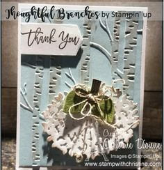 Thoughtful Branches - Bundle, Stampin' Up! Branches, Stampin Up, Place Cards, Place Card Holders, Home Decor, Decoration Home, Room Decor, Stamping Up, Home Interior Design