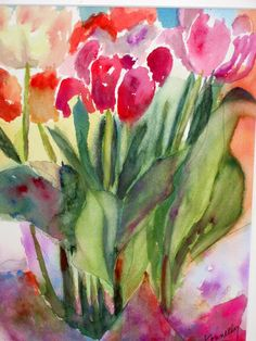 My watercolor of Tulips.
