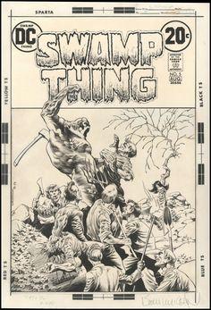 Diversions of the Groovy Kind: Black and White Wednesday: Bernie Wrightson.Original Art from the Swamp Comic Book Artists, Comic Books Art, Comic Art, Star Comics, Dc Comics, Horror Comics, Frankenstein, Bernie Wrightson, Jim Steranko
