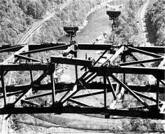 New River Gorge Bridge under construction.
