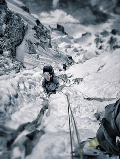 Climbing Ama Dablam, Nepal.