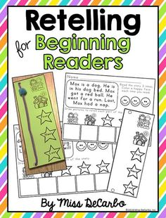 Miss DeCarbo: 3 Ideas To Increase Retelling Skills In Young Readers Guided Reading Lessons, Reading Strategies, Reading Skills, Teaching Reading, Partner Reading, Reading Response, Teaching Ideas, Retelling Activities, Comprehension Activities