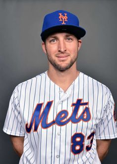 Ten Best (and Weirdest) Photos from MLB Picture Day - February Tim Tebow, New York Mets Tim Tebow Baseball, Baseball Jerseys, Football, Outdoor Basketball Court, Basketball Hoop, Bible Doctrine, Grace Alone, Picture Day, Gods Grace