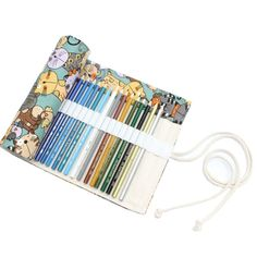 MoonLi 36 Holes Wrap Pencil Roll Case for Artist, School, Office ,Colouring Pencils Wrap Storage Case Multi-purpose (NO Pencils included) (Cat): Amazon.co.uk: Office Products