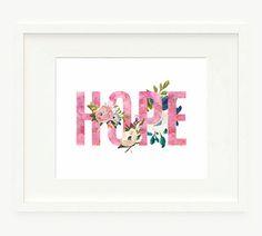HOPE Printable 8x10 Watercolor Printable by PaperCanoePrintables
