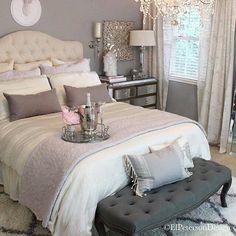 #chic #bedroom #bedroomdecor #bedroomdesign #decor #grey #home #homedecor #pink #white #like #tagsforlikes #followme
