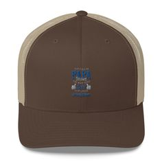 0719f18ada1c8 Special Order Embroidered Retro Trucker Cap PaPa Grandfather Grandpa  Father s Day Hat Multi Colors by 406PureLiving