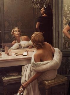 """thefashionatelier: """" Sharon Stone photographed by Annie Leibovitz for Vanity Fair US March 2007 """""""
