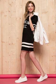 Siyah Tunik Elbise 77BRK10001