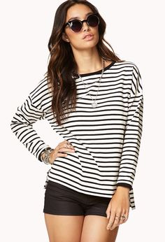 Everyday Striped Top | FOREVER21 - 2061527197
