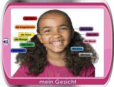 German for Children / Deutsch für Kinder - My Face