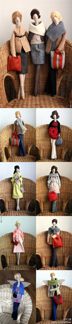 """话说,Etsy卖家Agah擅做布娃娃,她的定制娃娃每个39美刀,发色、衣服、配饰都可自选搭配,虽然不是仿真的那种,但是让人看着感觉很有""""范"""",那种熟女范,气场真的很强大哦!"""