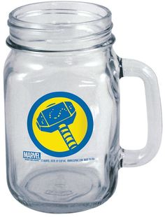 Icup Marvel Thor Hammered Badge 16-oz. Mason Jar Mug