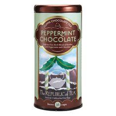 The Republic Of Tea Peppermint Cuppa Chocolate Tea 36 Teabags - http://teacoffeestore.com/the-republic-of-tea-peppermint-cuppa-chocolate-tea-36-teabags-2/