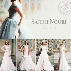 Sareh Nouri, Fall 2014 collection, as seen on http://www.bride.ca/wedding-dresses/?GownTypeID=1&GownLabelID=183