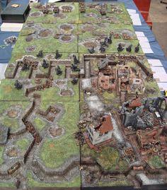 WWI battlefield Warhammer Terrain, 40k Terrain, Game Terrain, Wargaming Table, Wargaming Terrain, Airsoft Field, D Day Normandy, Star Wars Models, Military Modelling