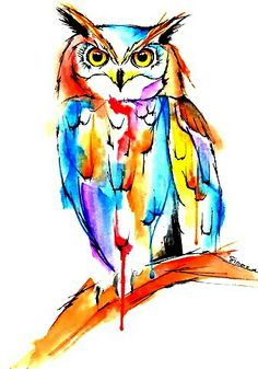 watercolor owl Art Print by simonaborstnar Do Your Own Thing, Owl Art, Illustrations, Watercolor Tattoo, Owl Watercolor, Rooster, Tattoo Designs, Moose Art, Birds