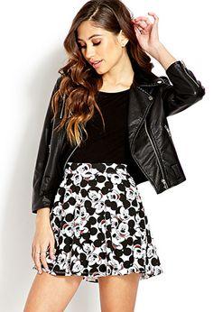 Hey Mickey Skater Skirt | FOREVER21 - 2000125586