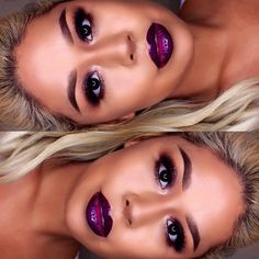 I want my eyebrows to look like this! Lipcolor is to die for