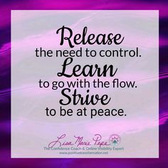 Hello Beautiful Souls and Happy #MotivationalMonday! Imagine how much more productive and peaceful you'd feel if only you could release your need to control the outcome of every situation. Yes, not an easy thing to do, but oh so worth it. Give it a shot. After all, you have nothing to lose and everything to gain. Delete Commentptpwc#LisaMariePepe 💖#TheConfidenceCoach & #OnlineVisibilityExpert for #HeartCentered #WomenEntrepreneurs 💖