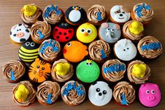 Animal Cupcakes from