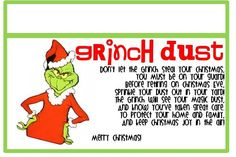 graphic relating to Grinch Pills Free Printable known as Grinch Dirt No cost Printable