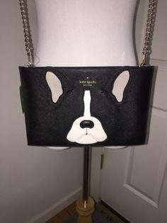 d67900c22a525f NWT!! Kate Spade Ma Cherie Antoine French BullDog Sima Clutch Crossbody Bag