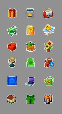 The Ville Social Game - UI & Icons by Ed Temple, via Behance